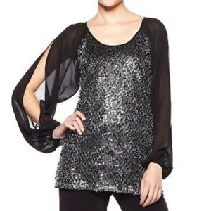 American Glamour Badgley Mishka sequined blouse S